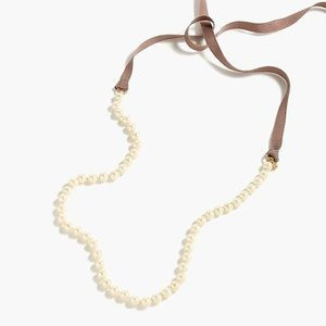 J Crew Pearl & Ribbon Necklace